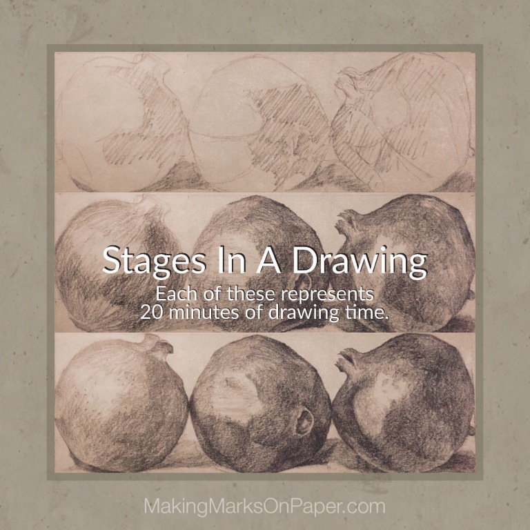 Stages In A Drawing